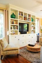 Brilliant Built In Shelves Ideas for Living Room 35