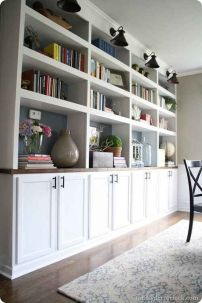 Brilliant Built In Shelves Ideas for Living Room 41