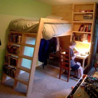 Cool Loft Bed Design Ideas for Small Room 17