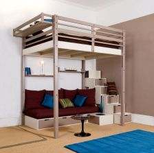 Cool Loft Bed Design Ideas for Small Room 28