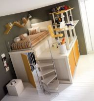 Cool Loft Bed Design Ideas for Small Room 35