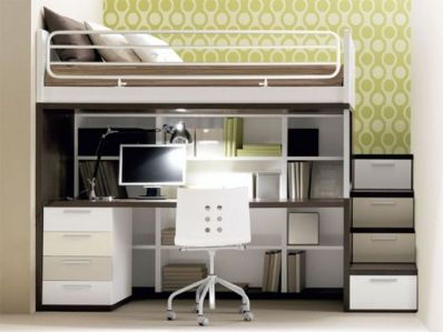 Cool Loft Bed Design Ideas for Small Room 40