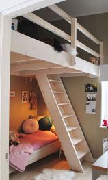 Cool Loft Bed Design Ideas for Small Room 56