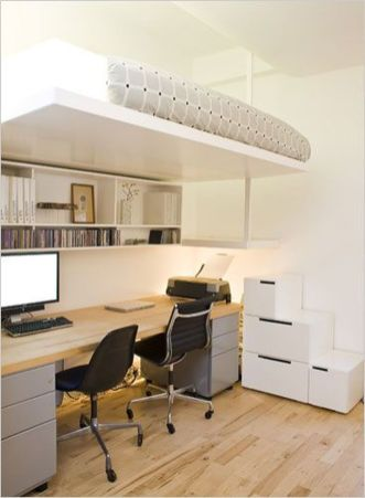 Cool Loft Bed Design Ideas for Small Room 7