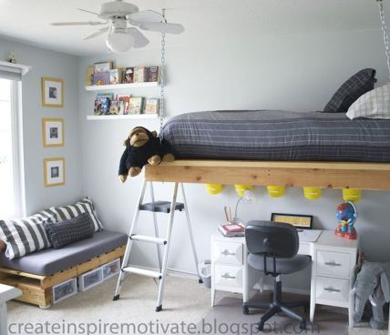 Cool Loft Bed Design Ideas for Small Room 77