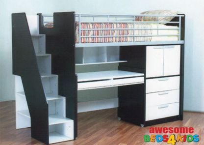 Cool Loft Bed Design Ideas for Small Room 81