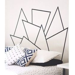 Inspiring Creative DIY Tape Mural for Wall Decor 25