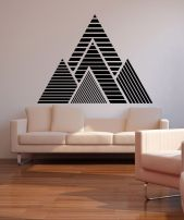 Inspiring Creative DIY Tape Mural for Wall Decor 45