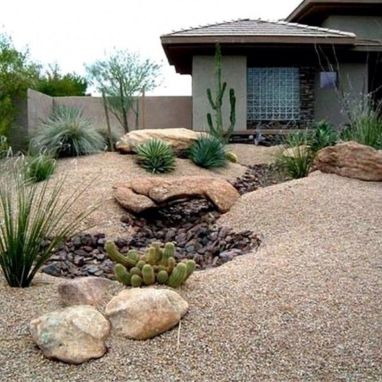 Inspiring Dry Riverbed and Creek Bed Landscaping Ideas 58