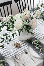 Spring Home Table Decorations Center Pieces 89