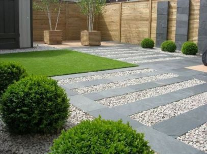 Modern and Contemporary Front Yard Landscaping Ideas 51