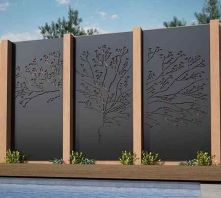 Stunning Creative Fence Ideas for Your Home Yard 24
