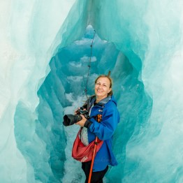 Mira Åkerman in the ice cave