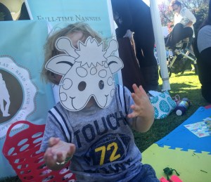 Decorating masks with The Nanny League at Fall Fest 2015