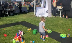 Playing with Green Toys at Fall Fest 2015