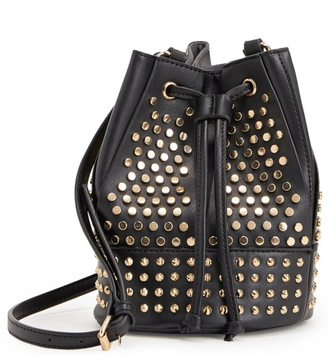 bucket bag, studded hand bag, studs, draw string bag, online shopping, #shoedazzlegirl