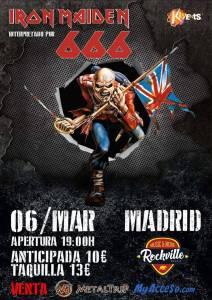 Tributo a los Maiden con 666 Iron Maiden en Madrid