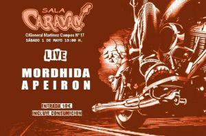 Concierto Mordhida + Apeiron Sala Caravan 1 Mayo