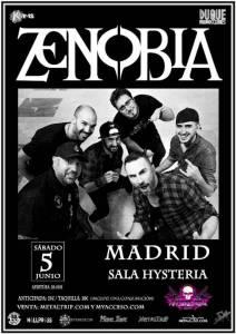 Zenobia en Madrid el sábado 5 de Junio