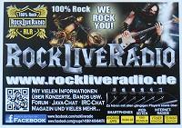 RockLiveRadio Postkarte