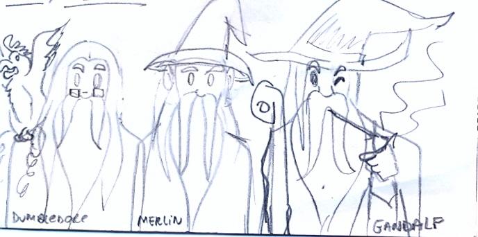 Dumbledore, Merlin e Gandalf