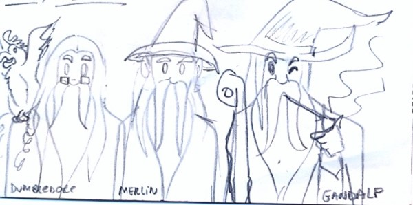 Dumbledore, Merlin e Gandalf