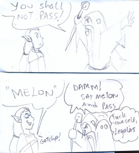 Legolas e Gandalf...