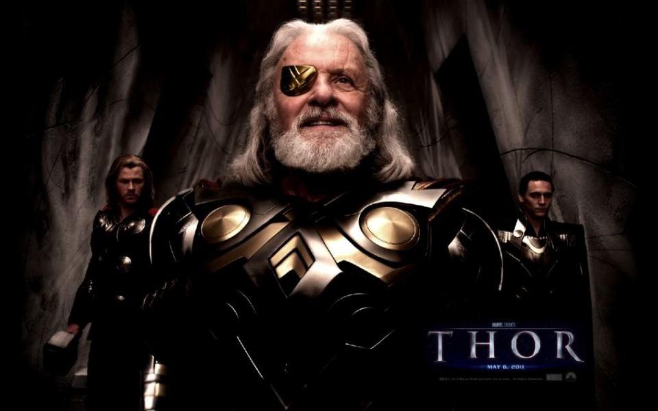 Odin, em uma das cenas aparece montado em Sleipnir!
