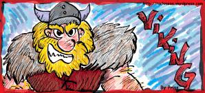 Meu quarto desenho: um viking!