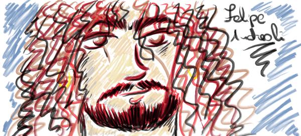 meu quinto desenho: Felipe Andreoli... ou quase!