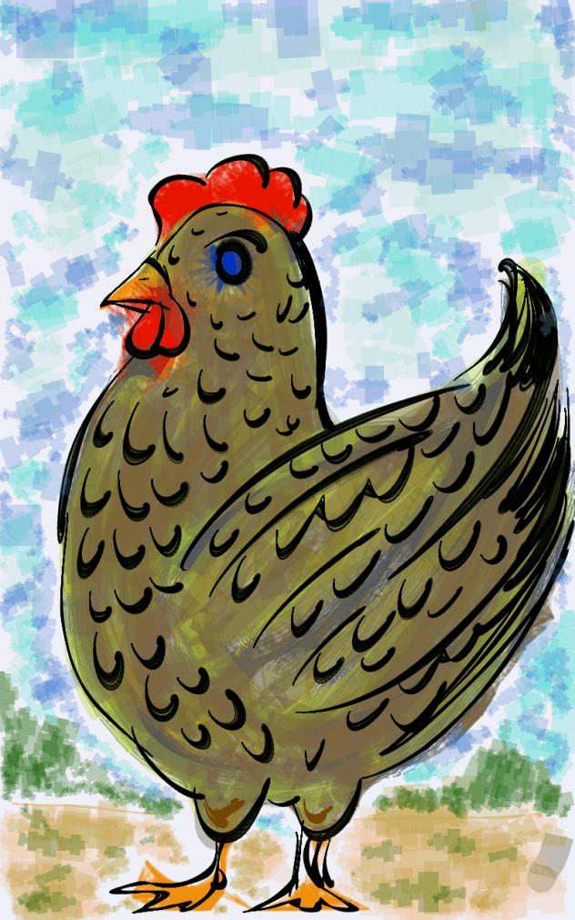 Eu não sei desenhar galinhas...
