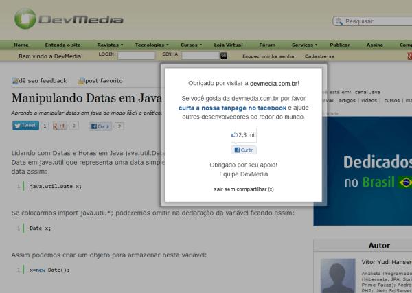 Odeio site que faz isso!!