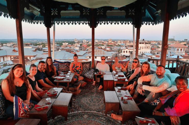 Rooftop Restaurant in Stone Town, Zanzibar