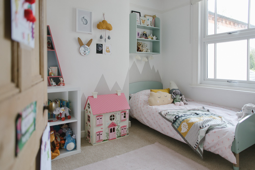 A Mint Girls Bedroom With Touches Of Grey, Pink & Mustard on Room For Girls  id=78267