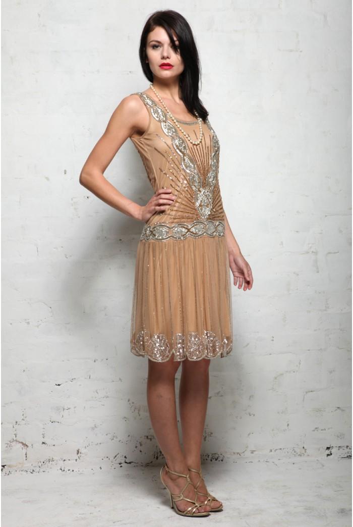 Frock and Frill Zelda Flapper dress - Sequined 1920s Dress