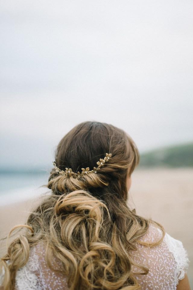 jesus peiro wedding dress for a cornish beach wedding