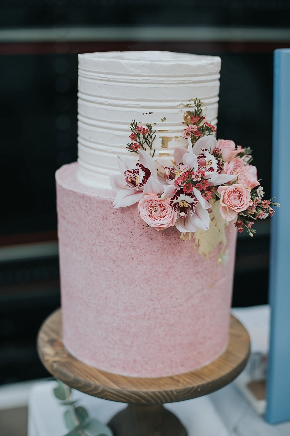 buttercream wedding cakes  raquo  Iced Wedding Cakes From Top UK Wedding Cake Makers RMW The List Pink   White Iced Wedding Cake By The Sparkling Spatula    Image By Poppy  Carter