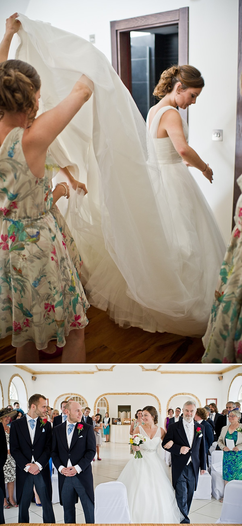 An Elegant Contemporary Wedding At Northbrook Park Farnham With Bride In Ellis Bridal Gown And