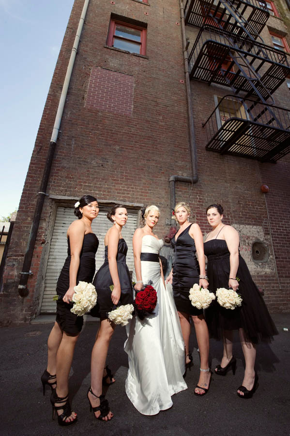Kristin Amp Brians Black Amp White Amp 1940s Themed Wedding