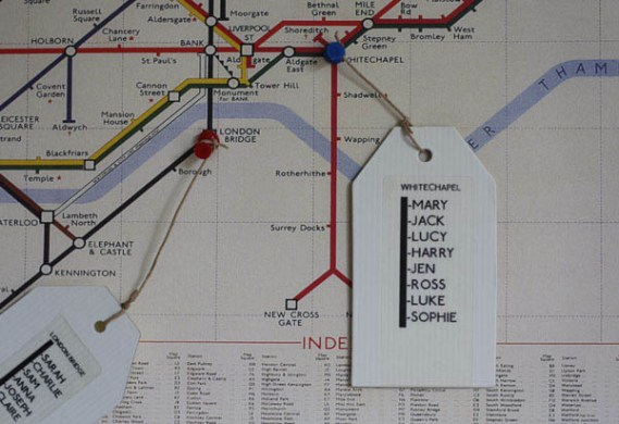 DIY Tutorial  London Underground Map Table Plan      Rock n Roll Bride How