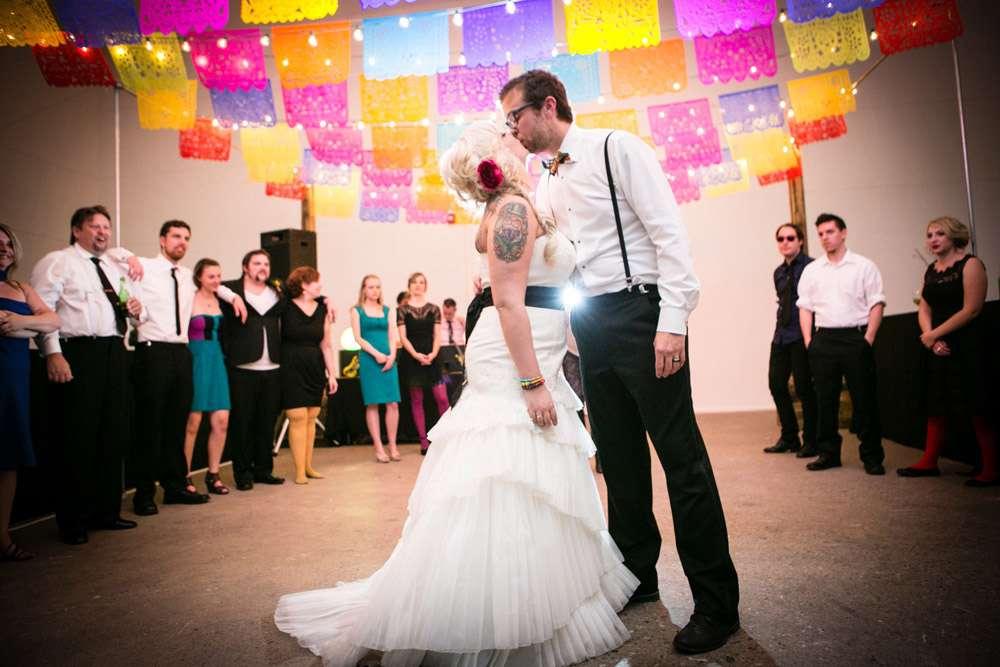 Rainbow Day Of The Dead Wedding James Amp Ashley Rock N