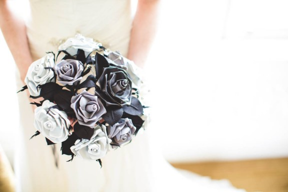 leather roses bouquet