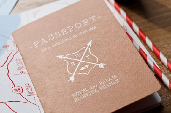 Red White Travel Inspired Wedding Invitations Via Oh So Beautiful Paper 20