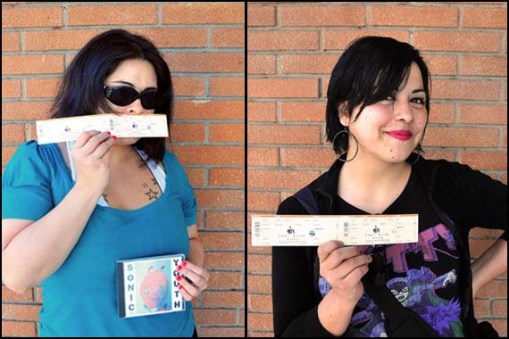 Monse y Mónica ganaron entradas para ver a Sonic Youth
