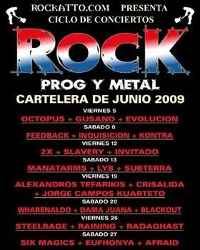 Ciclo Rock Prog y Metal