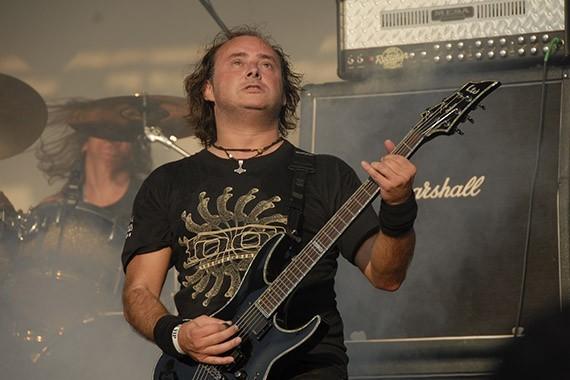 Juan Pablo Uribe, guitarrista de Pentagram   Fotógrafo: Metal Chris