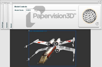 Papervision3D Component Screenshot