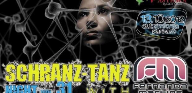 """V sodelovanju z organizatorjem vam podarjamo 1 vstopnico za dogodek """" Schranz Tanz Night"""", ki bo v soboto, 13. oktobra 2012 v klubu Simfonija."""