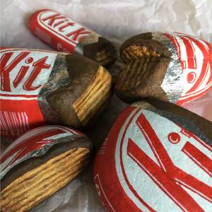Kit Kat painted rocks