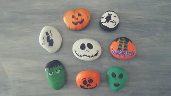 halloween rock painting ideas